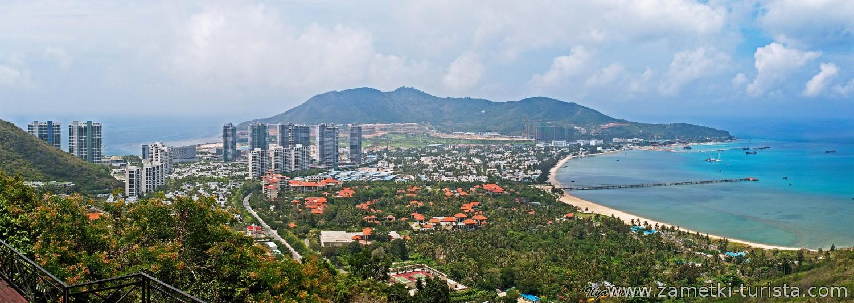 Основные курорты острова Хайнань. Китай.