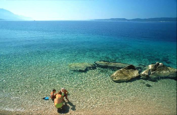 Хорватия, пляж, Адриатическое море, пляжный отдых, семейный отдых