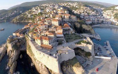 """Черногория, город Ульцинь, Адриатическое море, """"Старый Город"""""""