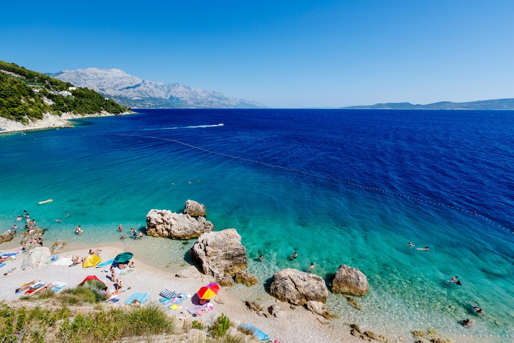 Хорватия, город - курорт Сплит, Адриатическое море, пляж