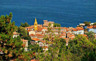 Ловран, Хорватия, море, город