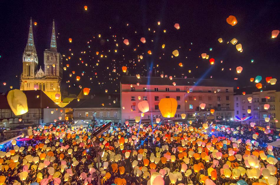 Хорватия, праздники, отдых, ярмарка, город Загреб
