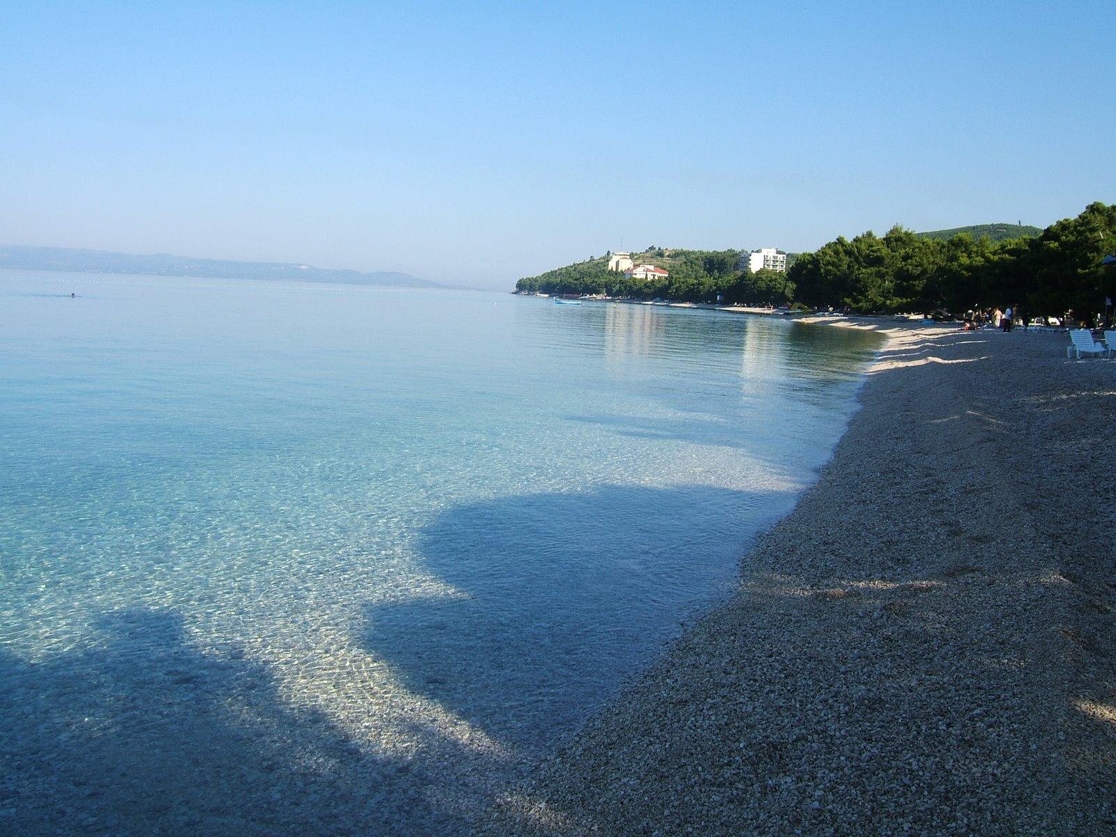 Хорватия, Тучепи, курорт, Адриатическое море, пляж