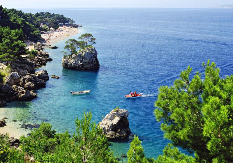 Хорватия, город Макарска, курорт, Адриатическое море, пляж