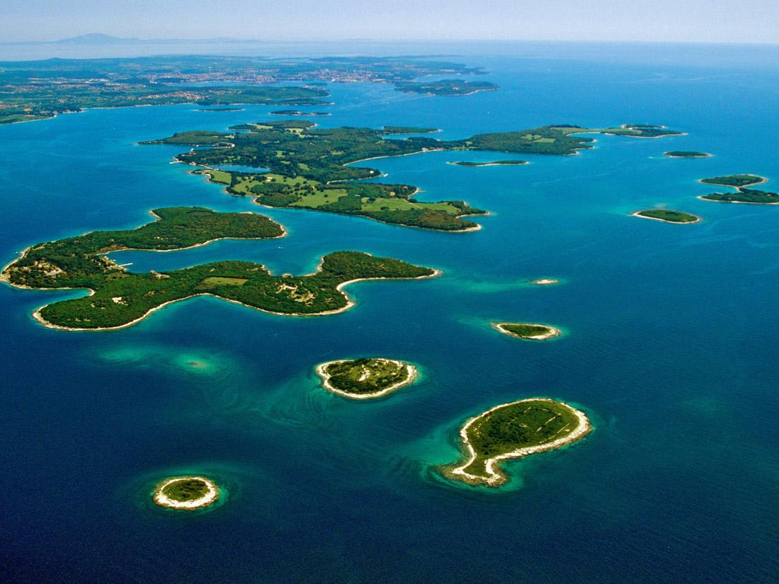 Архипелаг Элафит, Хорватия, Колочеп, Лопуд и Шипан, острова, море, отдых, вид сверху