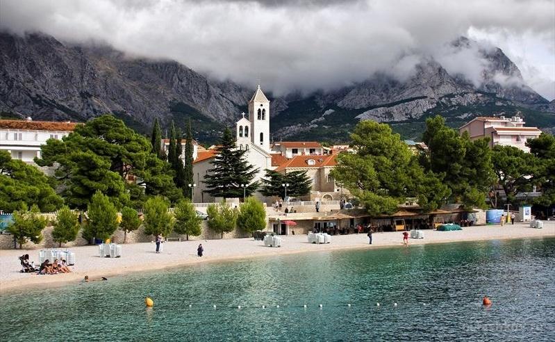 Хорватия, город Башка Вода, курорт, Адриатическое море