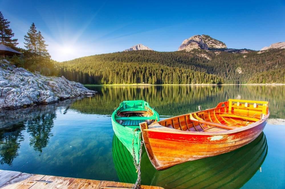 Черногоря, Адриатическое море, горы, лес