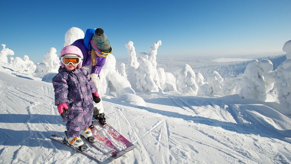 Финляндия, Луосто, горнолыжный курорт, отдых с детьми, детские склоны