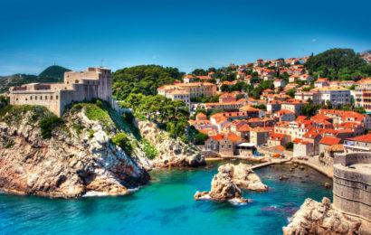 Хорватия, город Дубровник, курорт, Адриатическое море, старый город