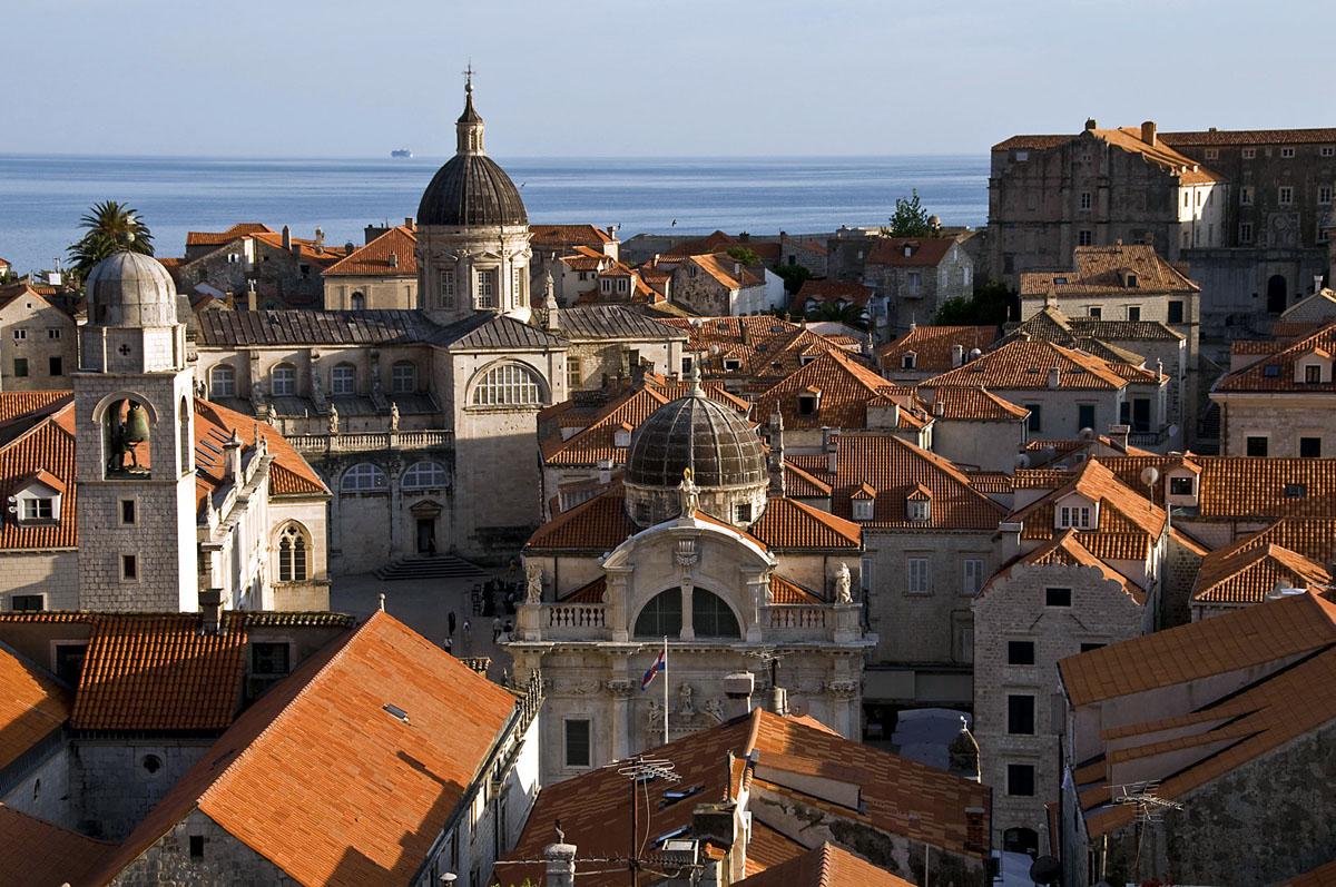 Хорватия, город Дубровник, курорт, Адриатическое море, старый город, достопримечательности