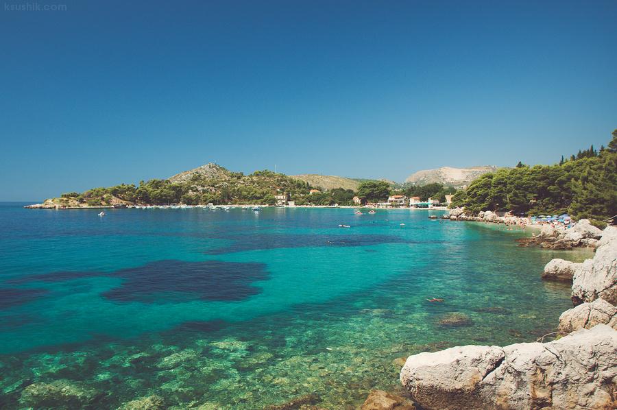 Хорватия, поселок Млини, курорт, отдых, Адриатическое море, пляж