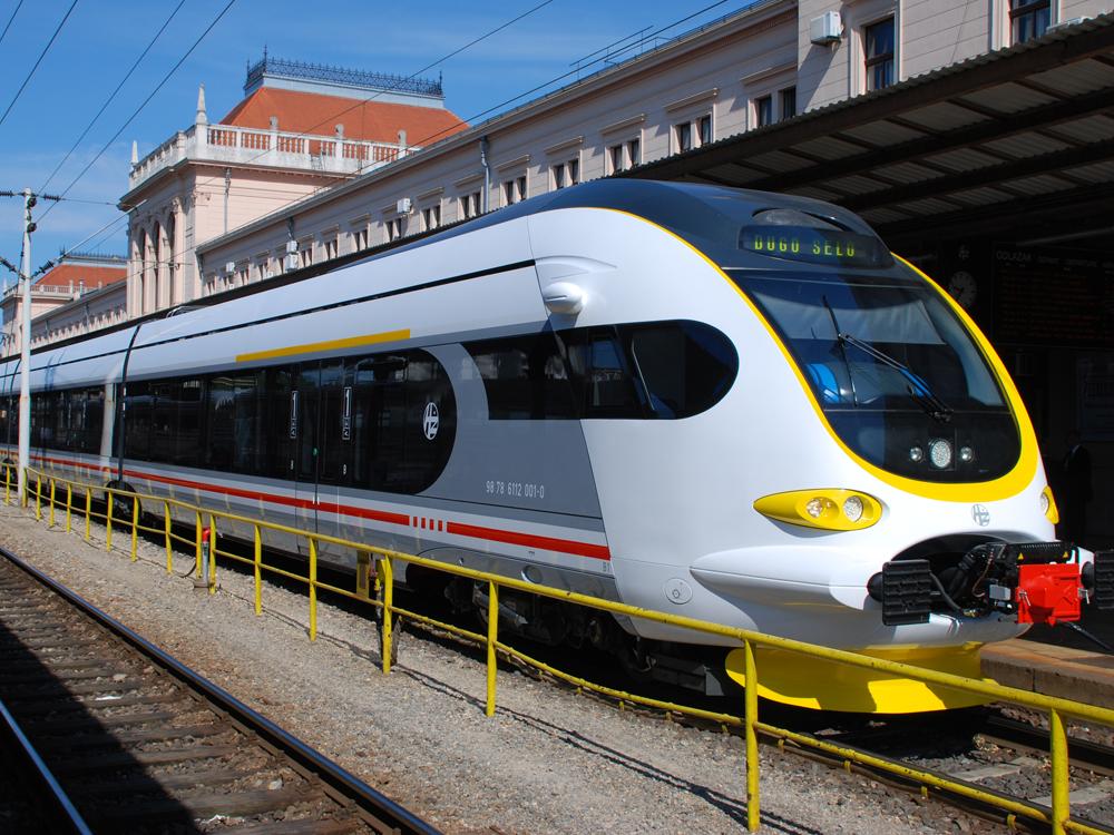 Хорватия, общественный транспорт, поезд