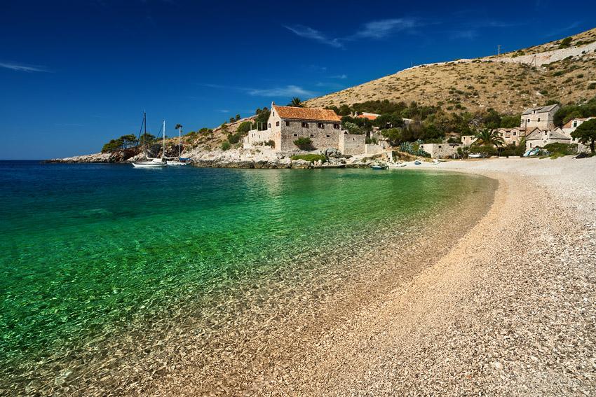 Хорватия, остров Хвар, море Адриатическое, пляж