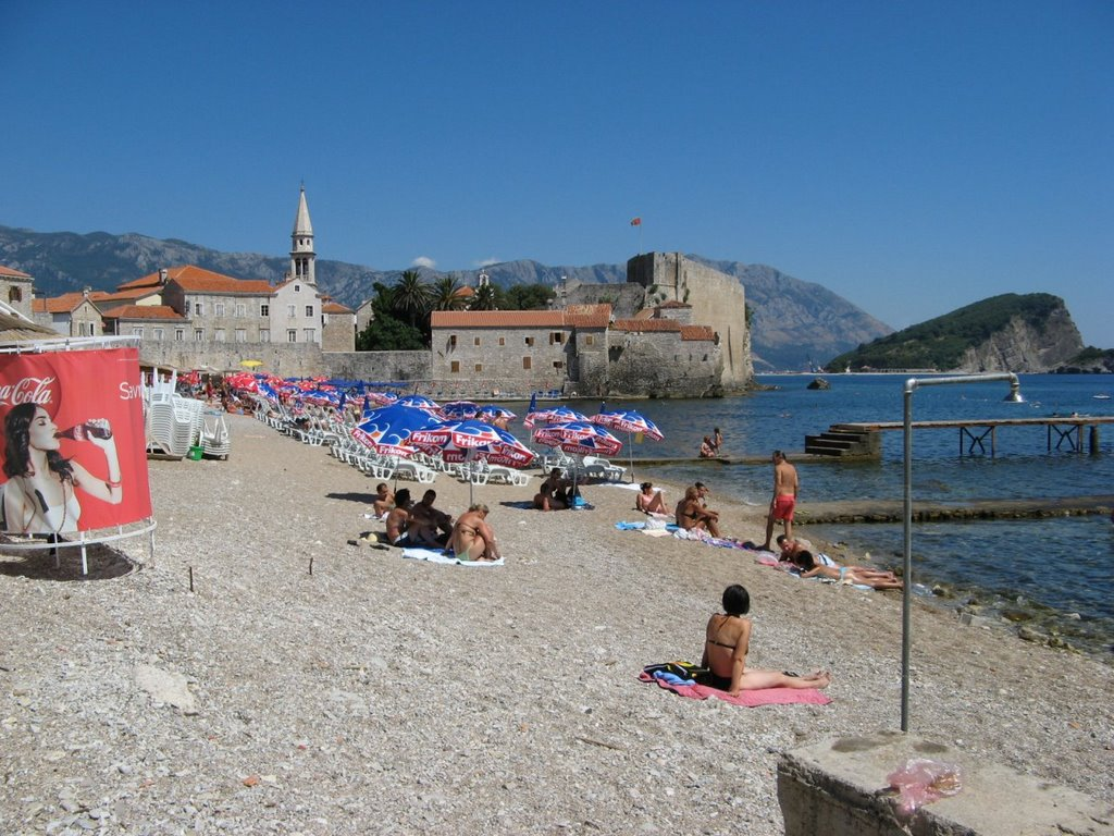 Черногория, город Будва, Адриатическое море, курорт, пляж