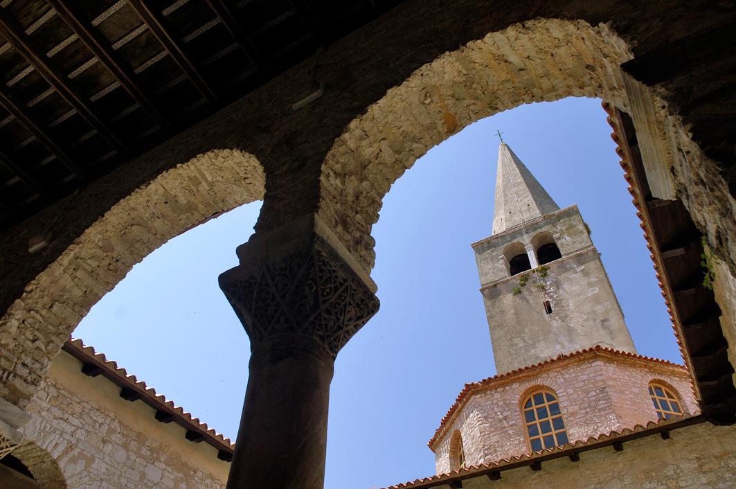 Хорватия, город Пореч, Евфразиева базилика, храм, памятник ЮНЕСКО
