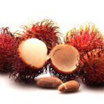 Волосатый экзотический фрукт.