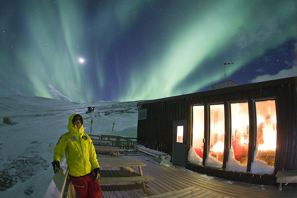Абиску, Швеция, северное сияние, отдых в Европе зимой