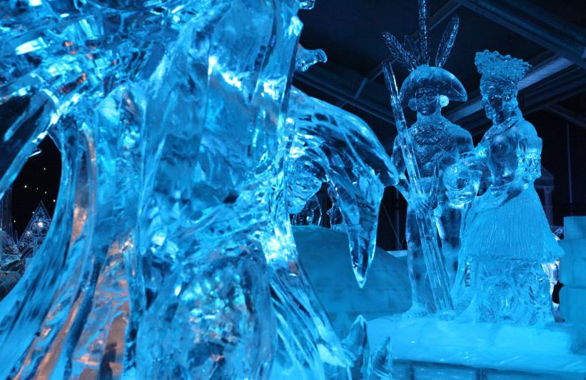 Брюгге, Бельгия, фестиваль ледяных скульптур, отдых зимой в Европе