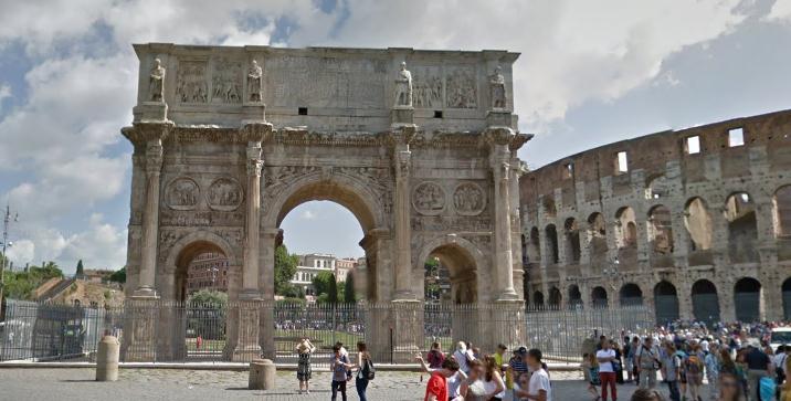 Триумфальная арка Константина в Риме 2