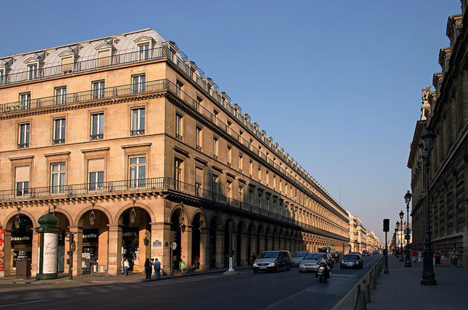 Улица Риволи Париж