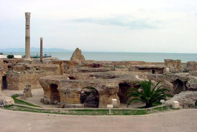 Тунис, столица Туниса, развалины Карфагена