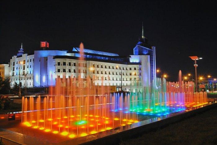 Казань, Россия, Республика Татарстан, достопримечательности, площадь фонтанов
