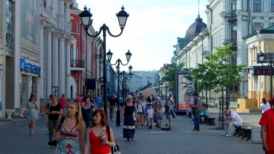 Казань, Россия, Республика Татарстан, достопримечательности, пешеходные улицы Казани, улица Баумана