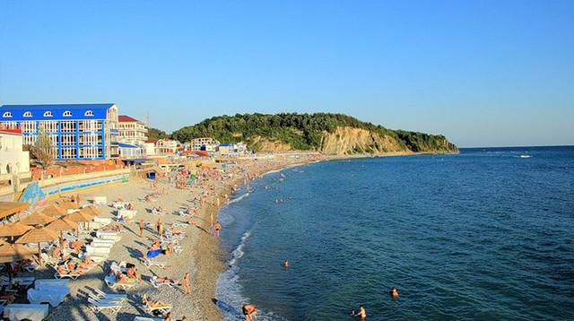 Туапсе, Россия, отдых, курорт, достопримечательности, пляжный отдых в Туапсе, пляж в поселке Ольгинка