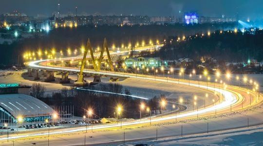 Казань, Россия, Республика Татарстан, достопримечательности, Миллениум мост