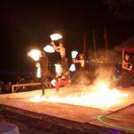 Огненное Шоу (фаер шоу) на остове Пхи Пхи, Таиланд  видео и фото