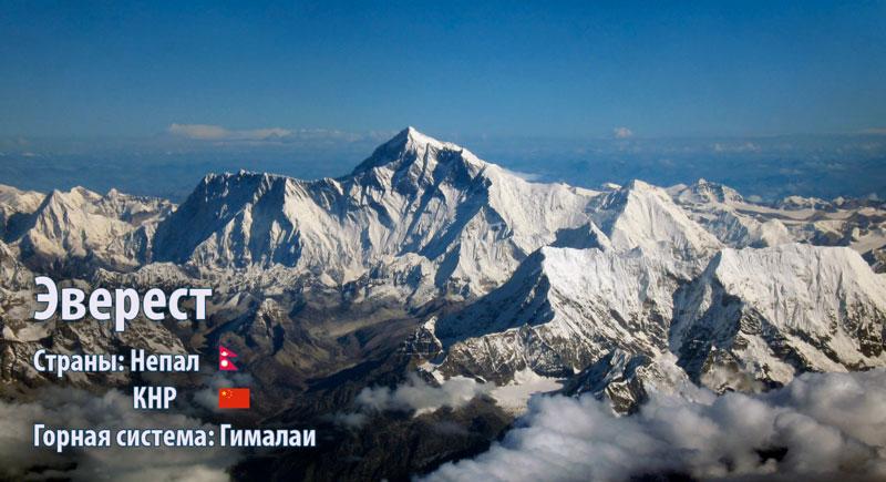 Эверест, Джомолунгма, (Гималаи) Махалангур-Химал
