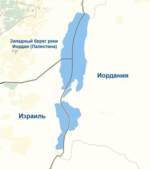 Где находится Мертвое море на карте, Израиль, Палестина, Иордания