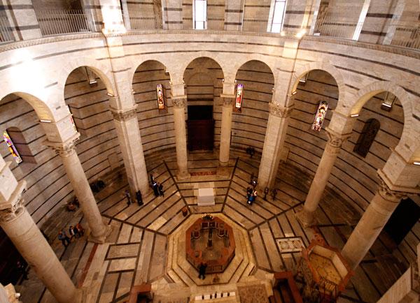Внутренняя отделка  Пизанская башня