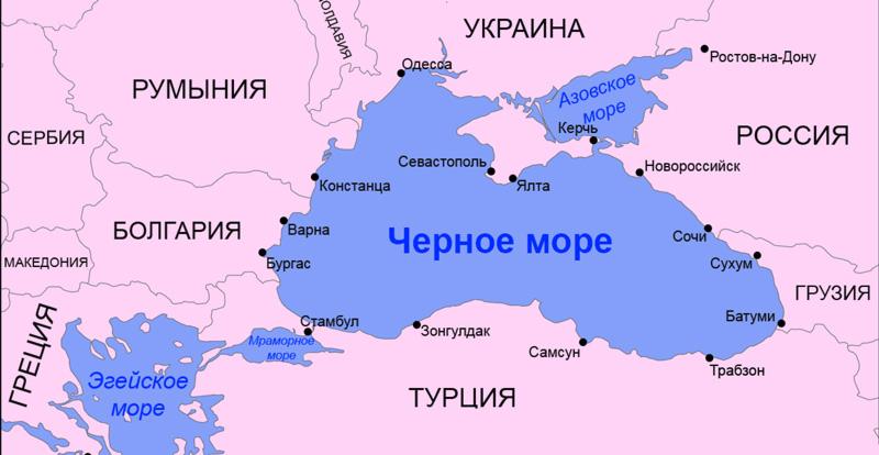 Где находится черное море, политическая карта черного моря, государства черного моря