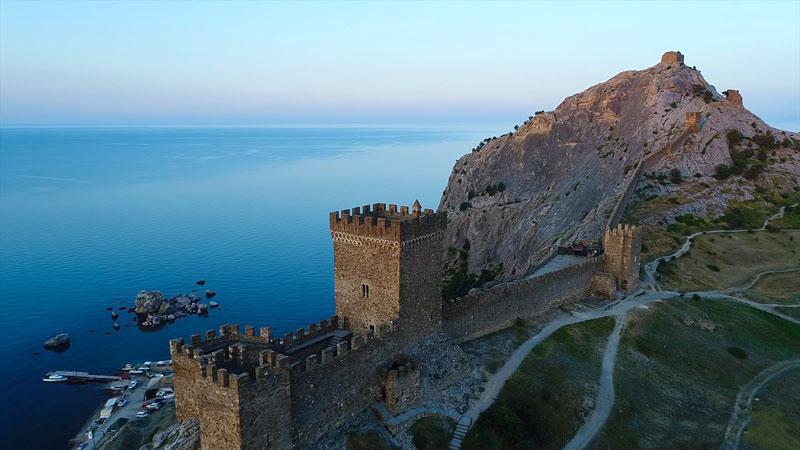 Генуэзская крепость, Судак вид сверху