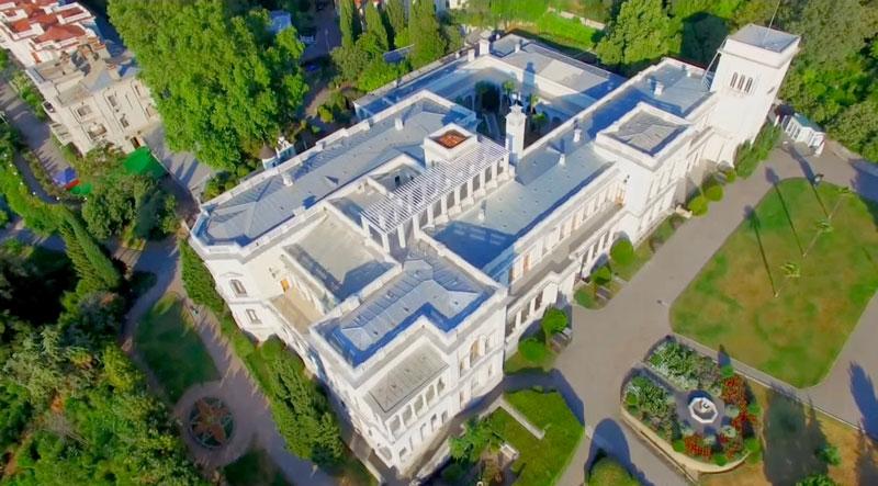 Ливадийский дворец Крым вид сверху