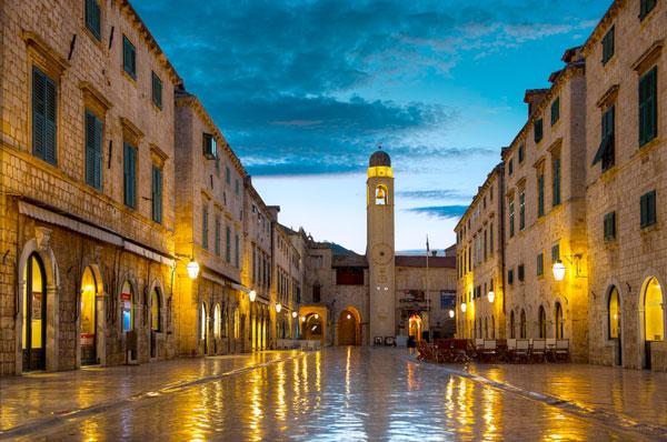 Placa, главная улица Дубровника